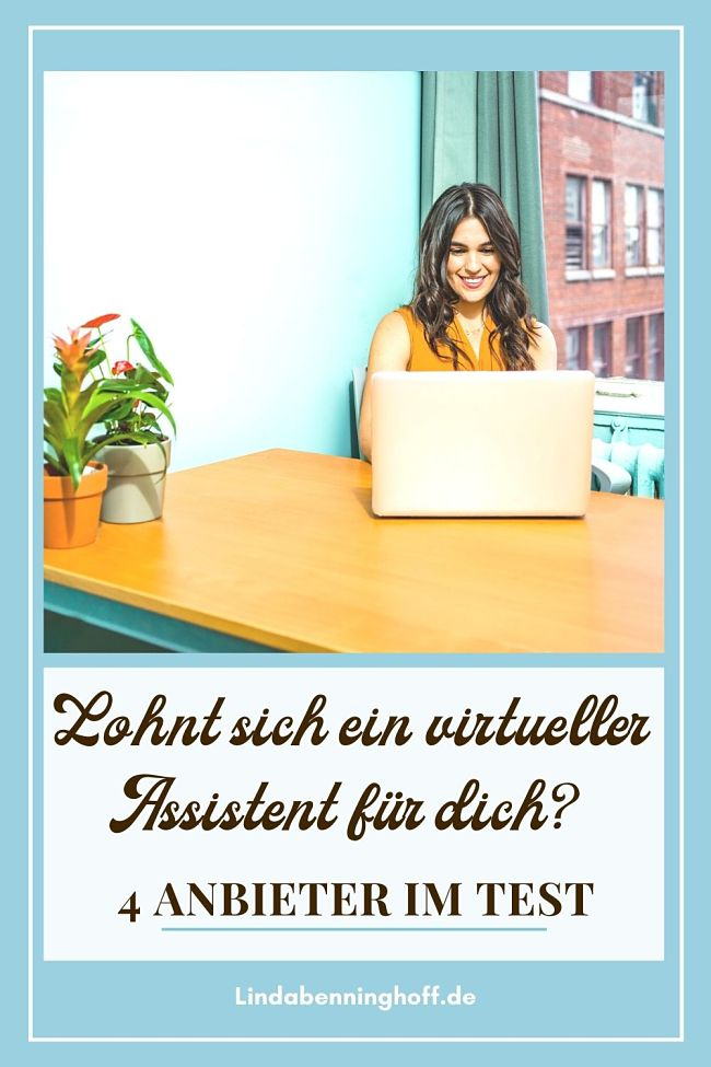 Virtueller Assistent Pinterest Frau Laptop
