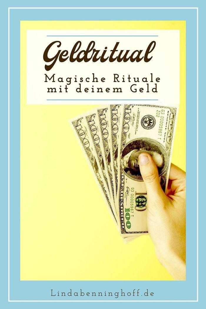Geldritual Geldscheine Pinterest