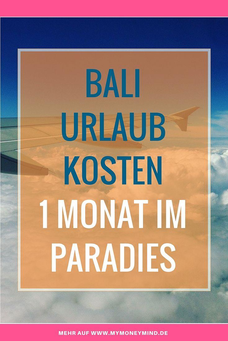 Bali Urlaub Kosten