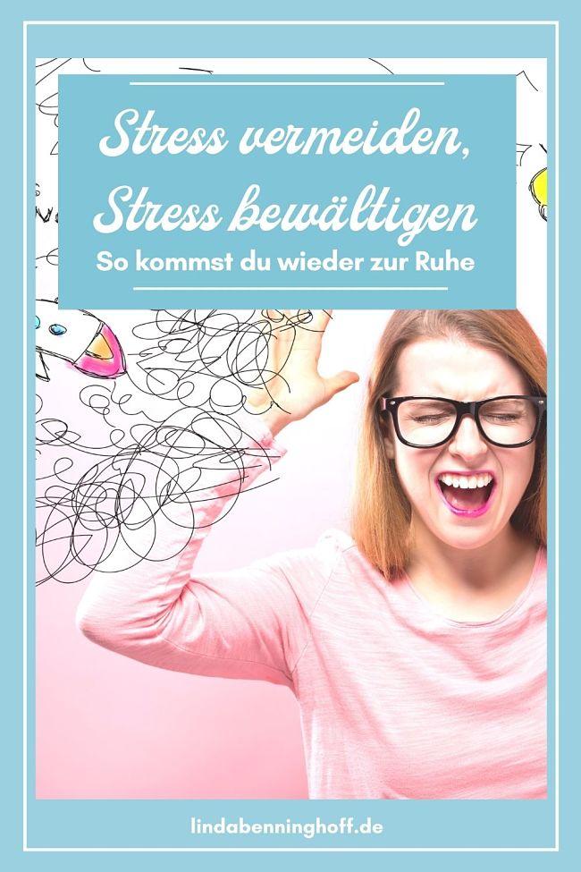 Stress vermeiden Frau