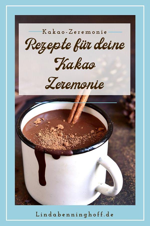 Kakaozeremonie Becher Kakao Schokolade mit Zimt